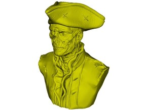 1/9 scale zombie pirate of the Caribbean bust in Smooth Fine Detail Plastic