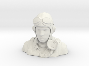 Warbird Pilot Figure 1/6 in White Natural Versatile Plastic