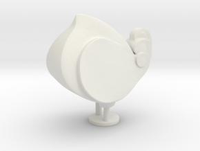 Decorative Home Sculpture in White Natural Versatile Plastic: Small