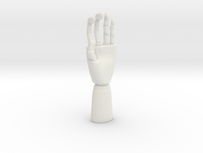 Modern Hand  Sculpture in White Natural Versatile Plastic: Small