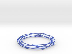 Droplet Bangle in Blue Processed Versatile Plastic