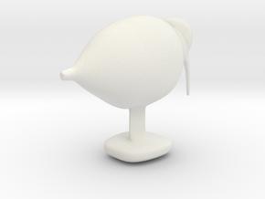 Decorative Bird Sculpture in White Natural Versatile Plastic: Small