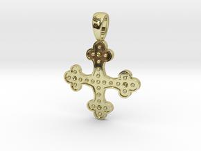 Byzantine Cross Pendant in 18k Gold Plated Brass