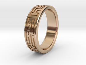 Maze Ring in 14k Rose Gold Plated Brass: 8 / 56.75