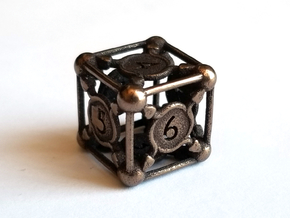 D6 Balanced - Snakes in Polished Bronze Steel