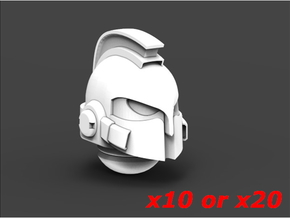 Next Gen Spartans Helmets x10 or x20 in Smooth Fine Detail Plastic: Large