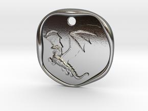 Dragon Wax Seal in Polished Silver