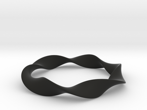 TorusKnot in Black Natural Versatile Plastic