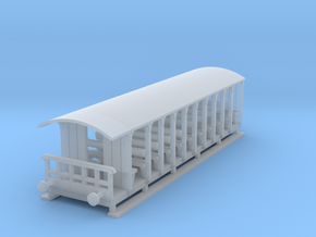 o-148fs-corringham-toastrack-coach in Smooth Fine Detail Plastic
