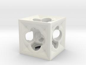Fractal Menger Cube NH3 in White Natural Versatile Plastic