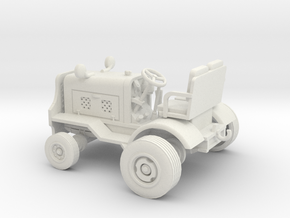 1/50th Clarktor Aircraft Tow Tractor in White Natural Versatile Plastic