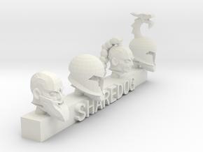 Head Series: Barbarians in White Natural Versatile Plastic