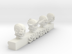 Head Series: Chaos Servants 2 in White Natural Versatile Plastic