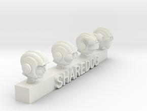 Head Series: Spacemen in White Natural Versatile Plastic