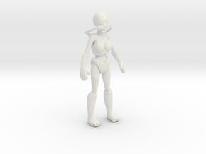 Woman in futuristic space suit in White Natural Versatile Plastic