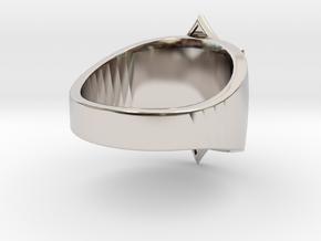 Sabaton Ring (male) in Rhodium Plated Brass
