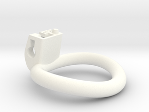 Cherry Keeper Ring - 40x38mm Wide Oval (~39mm) in White Processed Versatile Plastic