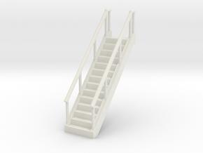 Stairs 1/72 in White Natural Versatile Plastic