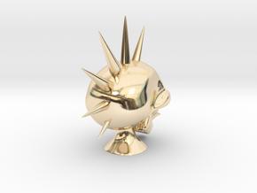 Hawk Skull in 14K Yellow Gold