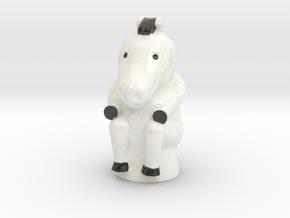 Zebra Game Token in Glossy Full Color Sandstone