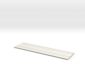 "Eptc 2"" CENTER double Trolley Track Concrete 12 in White Natural Versatile Plastic"