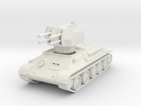 T-34 Flakpanzer 1/87 in White Natural Versatile Plastic