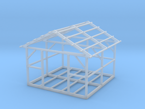 Wooden House Frame 1/144 in Smooth Fine Detail Plastic