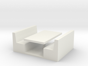 Restaurant Booth 1/56 in White Natural Versatile Plastic