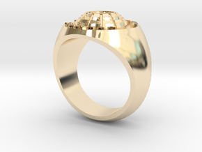 Man's Ring 14k Gold Plated Brass in 14k Gold Plated Brass