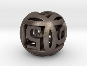 Ball Die in Polished Bronzed Silver Steel