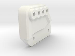 P1 D Rear Shock Hoop in White Natural Versatile Plastic