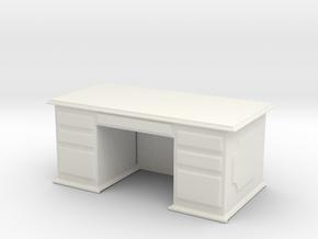 Office Wood Desk 1/48 in White Natural Versatile Plastic