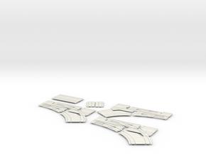 2020 60 deg double intersection in White Natural Versatile Plastic
