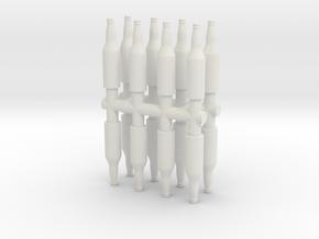12 Oz Beer Bottle (x16) 1/12 in White Natural Versatile Plastic