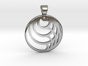Circles [pendant] in Polished Silver