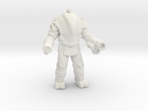 Aliens Exosuit Berserker miniature game 3inch tall in White Natural Versatile Plastic