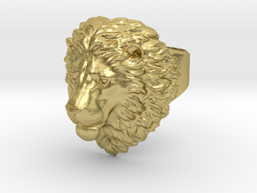 Calm Lion Ring size - 7.5 in Natural Brass: 7.5 / 55.5