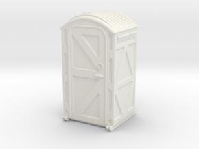 Portable Toilet 1/48 in White Natural Versatile Plastic