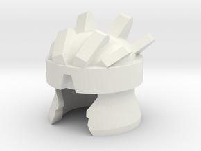 Robohelmet: Extinct Fudge in White Natural Versatile Plastic