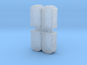 Portable Toilet (x4) 1/144 in Smooth Fine Detail Plastic