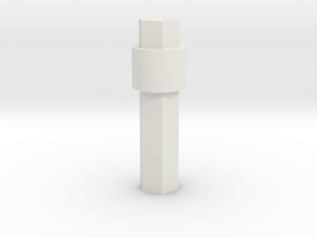 Support tube in White Natural Versatile Plastic