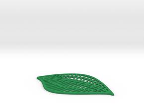 Leaf Drink Coaster in Green Processed Versatile Plastic