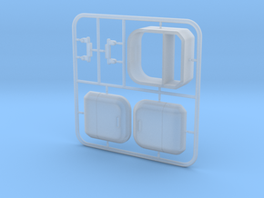 1/12 STROKE Cargo Trike: Cargobox in Smooth Fine Detail Plastic