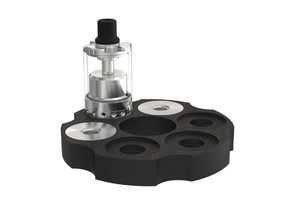 6 Shots - 25 mm Atomiser Stand in Black Natural Versatile Plastic