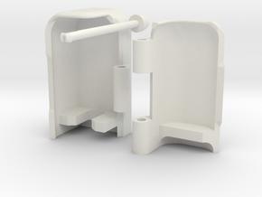 Toothbrush Holder Assembly in White Natural Versatile Plastic