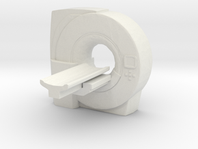 MRI Scan Machine 1/43 in White Natural Versatile Plastic