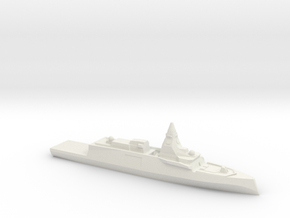 Belharra FDI (Wargaming) in White Natural Versatile Plastic: 1:1800