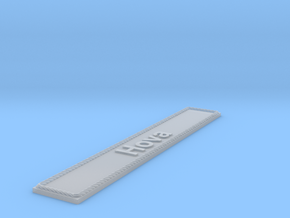 Nameplate Hova in Smoothest Fine Detail Plastic