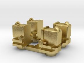 NTM aspot, oud model.  4 st. in Natural Brass