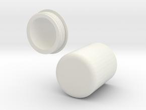 Glucotab Container / Glucose Tablet Holder in White Natural Versatile Plastic